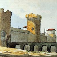 Medieval wall and Canaletes towers