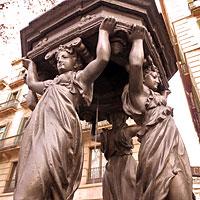 Wallace Fountain in Barcelona