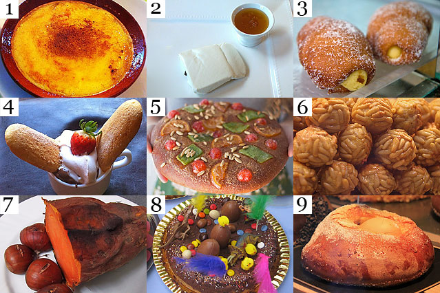 Traditional Catalan food - desserts and sweets