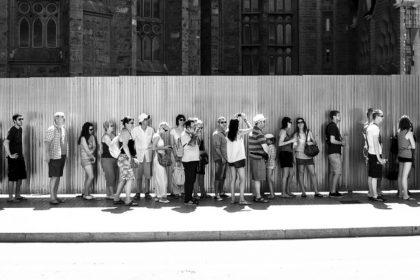 Long line at Sagrada Familia