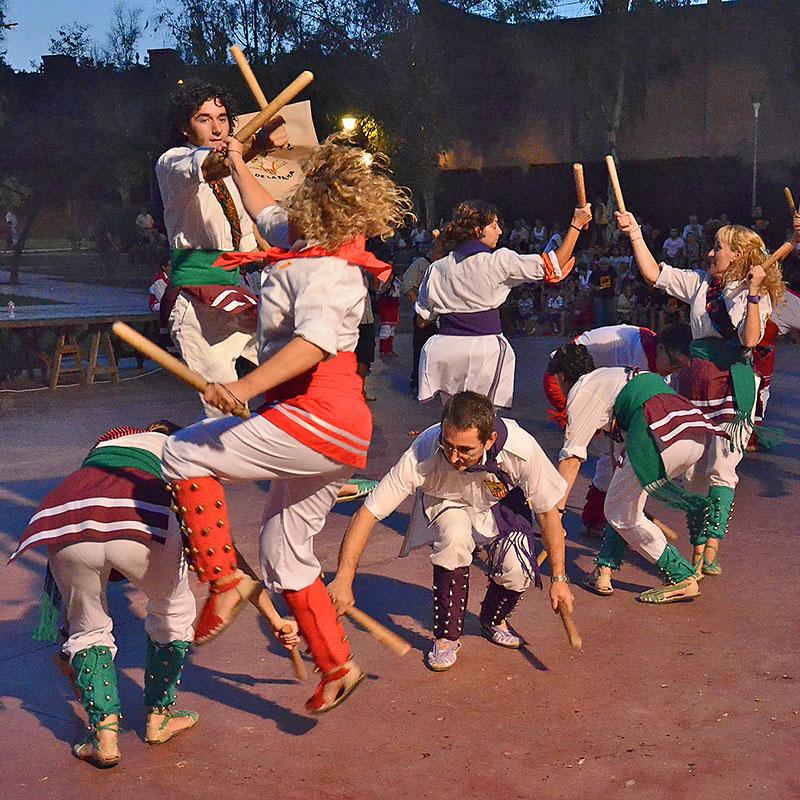 Stick dancers in Barcelona (Bastoners)