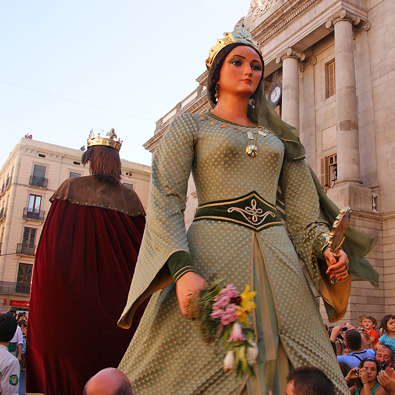 Gegants in Barcelona