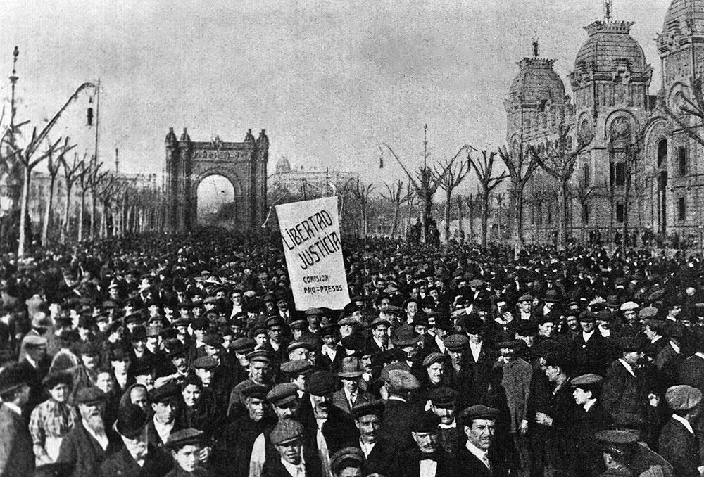 Demonstration in Barcelona 1909