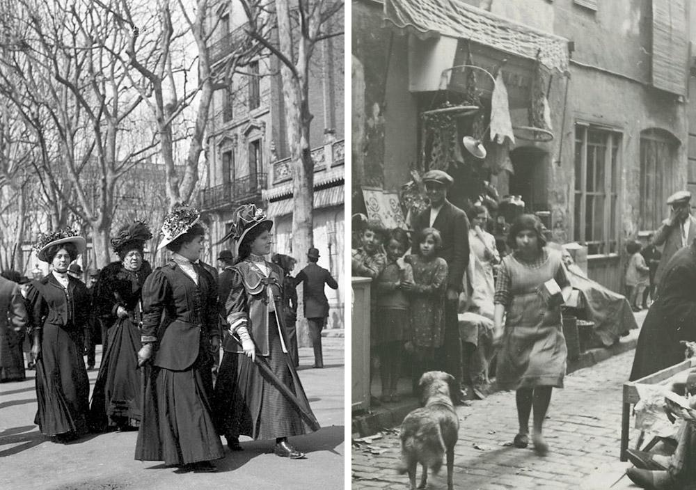Eixample and El Raval Barcelona 1900s
