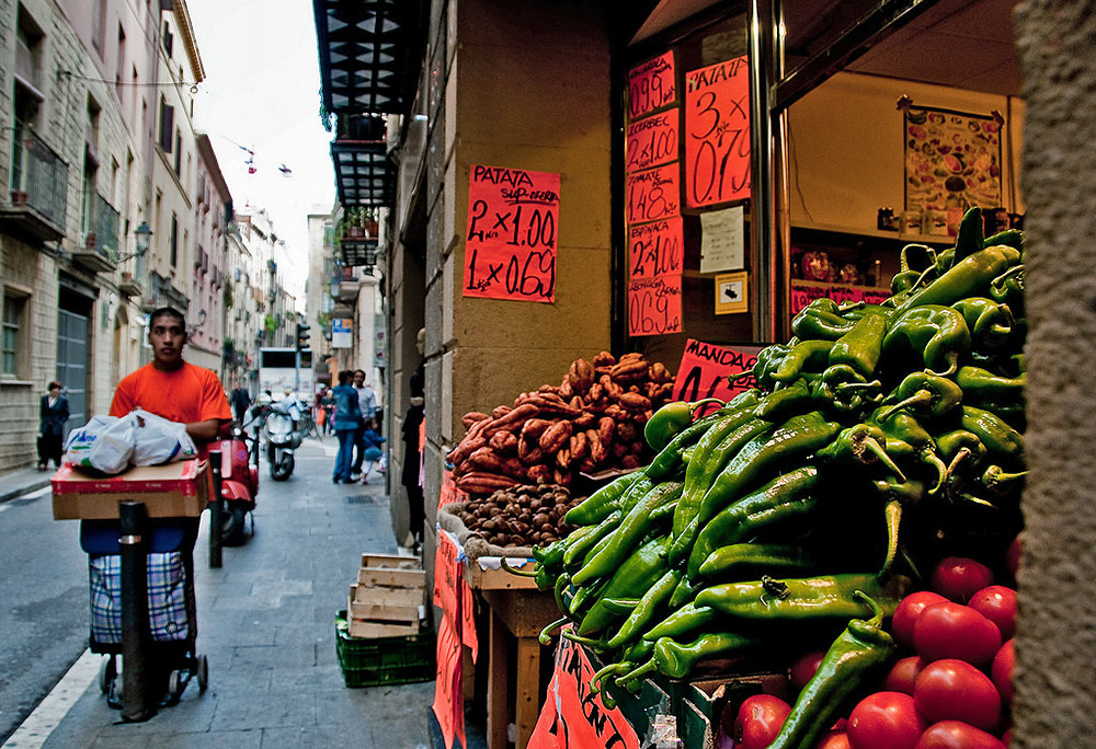 El Raval street Barcelona
