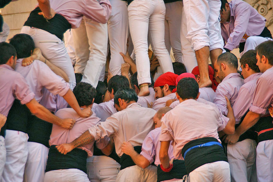 Where to see human towers in Barcelona: calendar of events