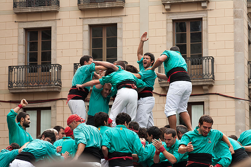 Places to see human towers in Barcelona