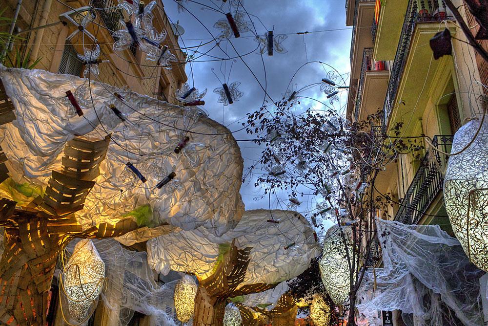 Gracia festival in Barcelona (street decorations)