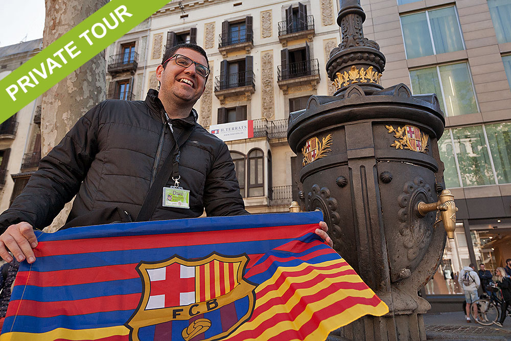Private tour guide Barcelona Camp Nou and FC Barcelona