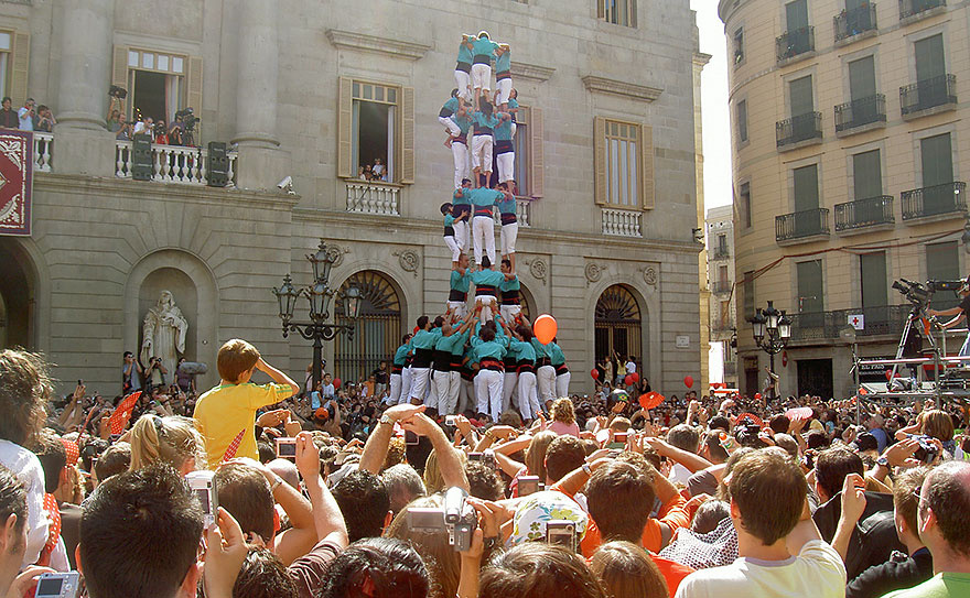 Castellers at the Festival of La Merce