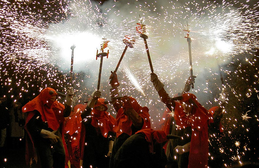 Correfoc during La Merce Festival