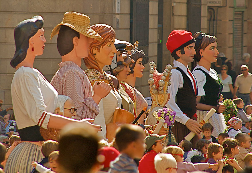 Giants Parade at la Merce Festival