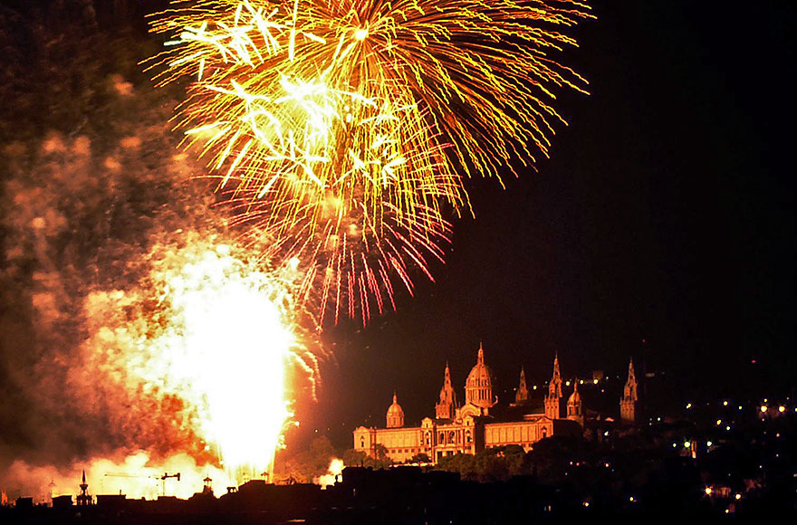 Piromusical fireworks at la Merce Festival