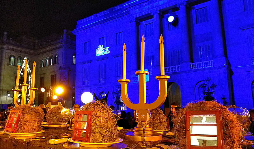 Nativity scene at Christmas in Barcelona