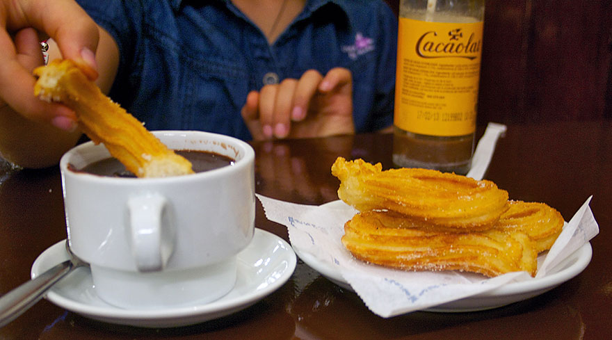Chocolate with churros in Barcelona