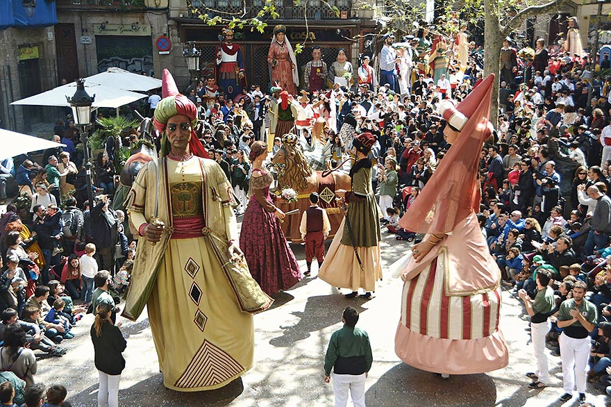 Giants Dancing at Barcelona Festival