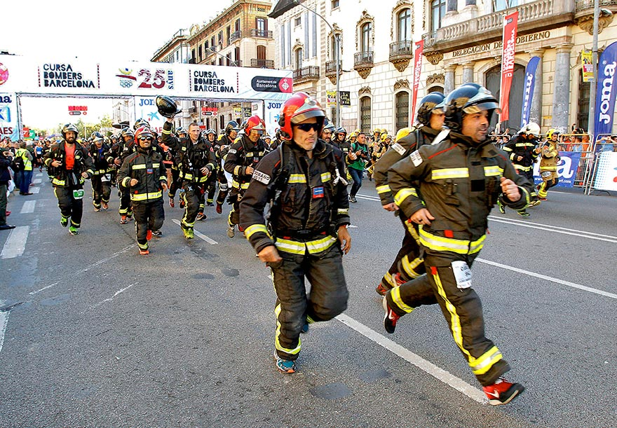 Firefighters race - cursa bombers Barcelona