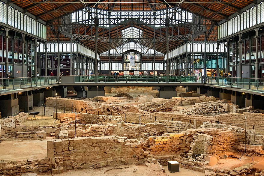 El Born CC Barcelona - Free archeological site
