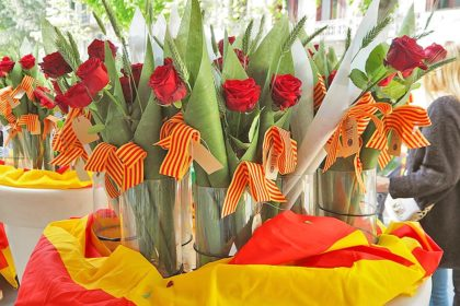 Barcelona in April Sant Jordi Day