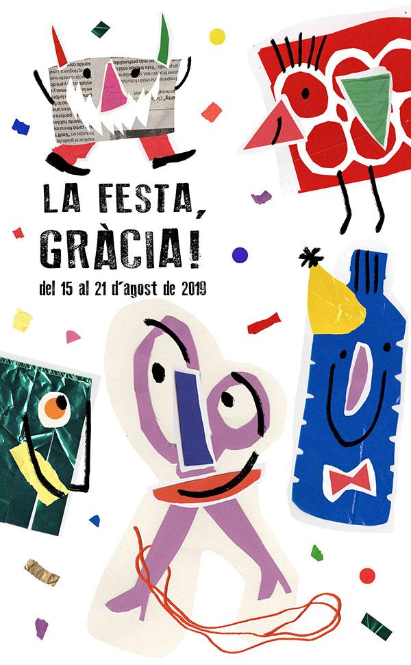 Barcelona's Gràcia Festival 2019 poster