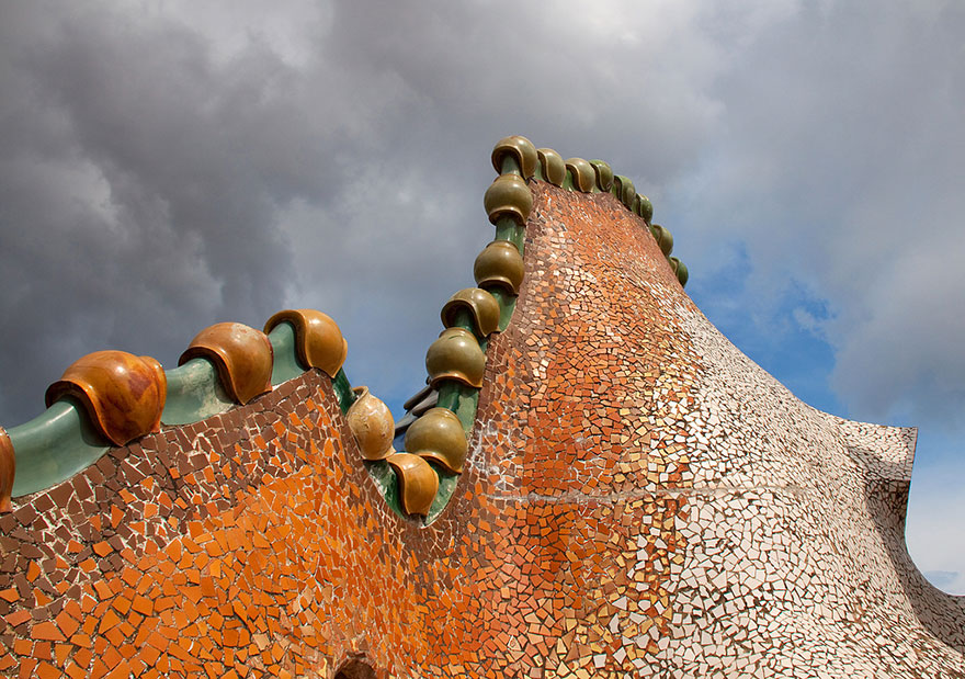 Roof terrace at Casa Batlló