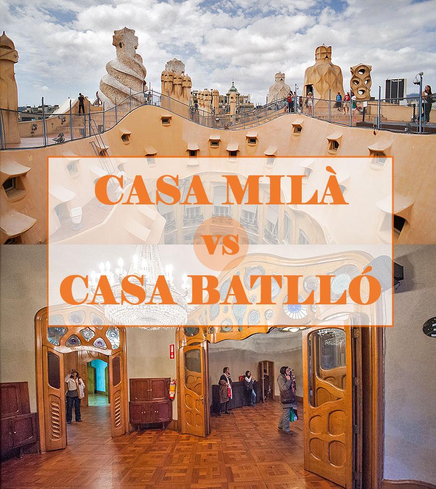 Casa Mila or Casa Batllo: which Gaudi house to visit