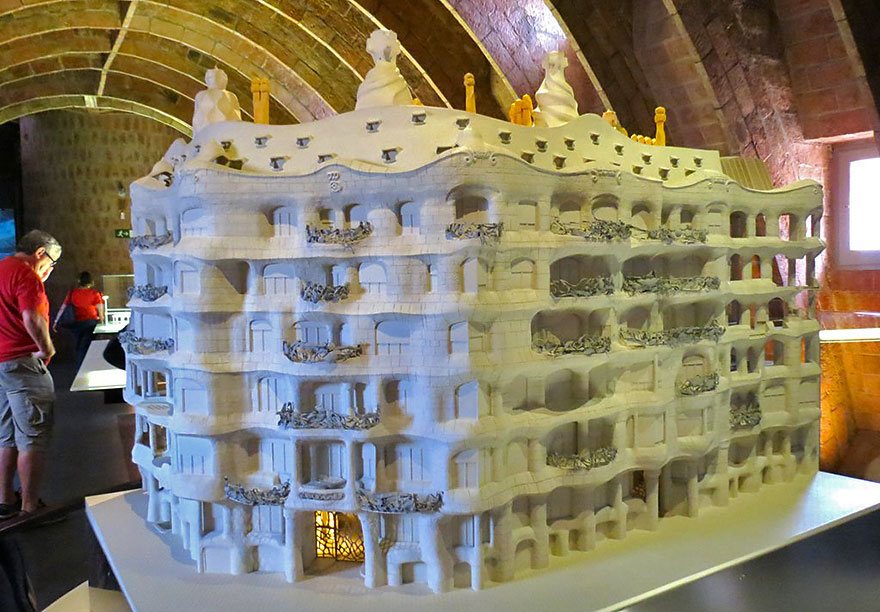Miniature model of La Pedrera