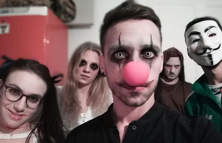Halloween night in Barcelona