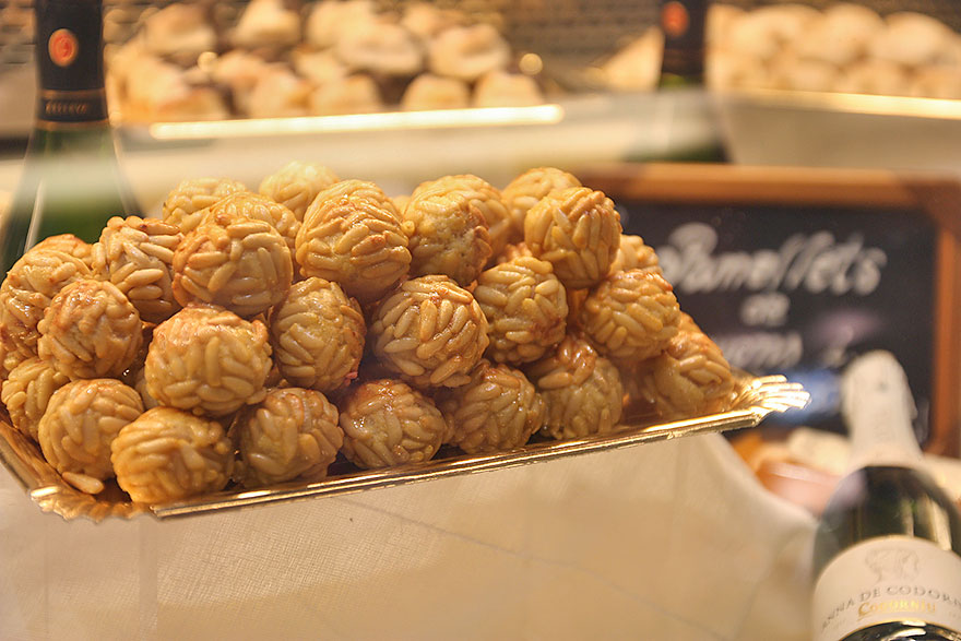 Panellets in Barcelona in November for All Saints Day
