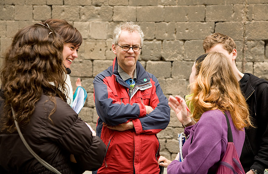 Chat during a free walking tour in Barcelona