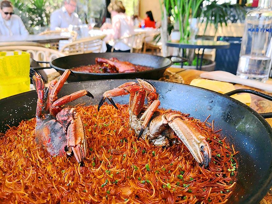 Fideuà at Martínez Restaurant Barcelona