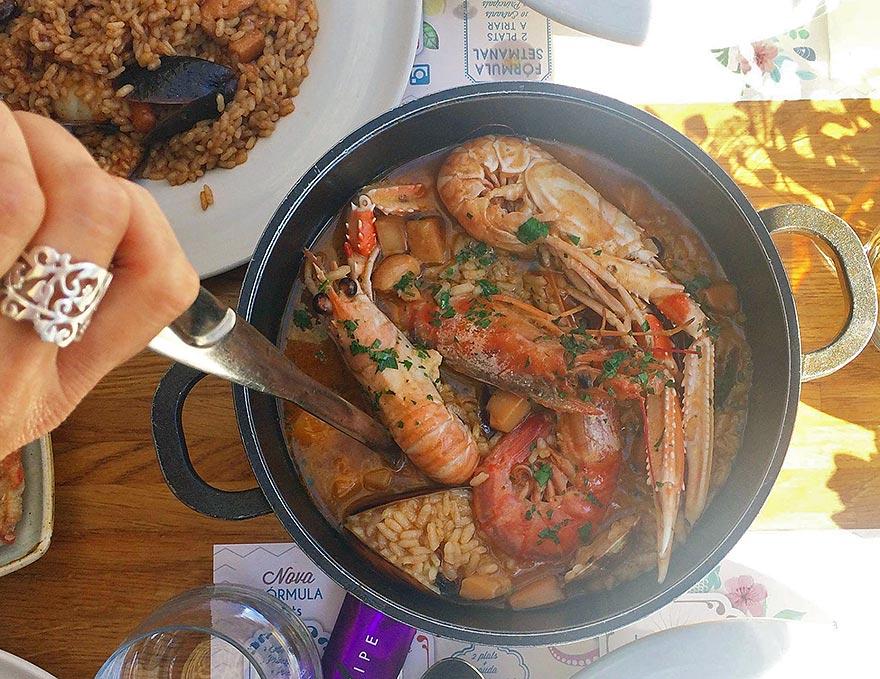 Rice at La Santa Restaurant - El Masnou, Barcelona