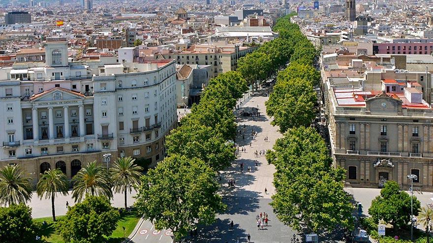 Las Ramblas of Barcelona