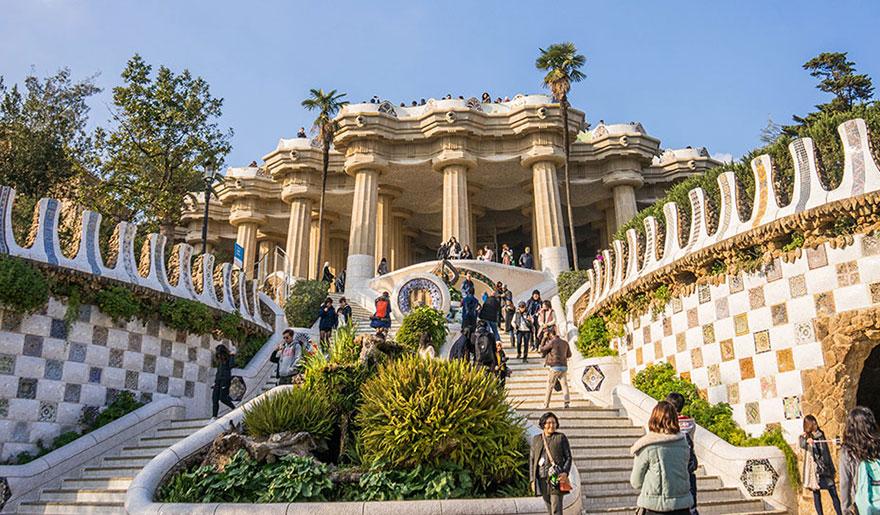 Park Güell by Gaudí in Barcelona