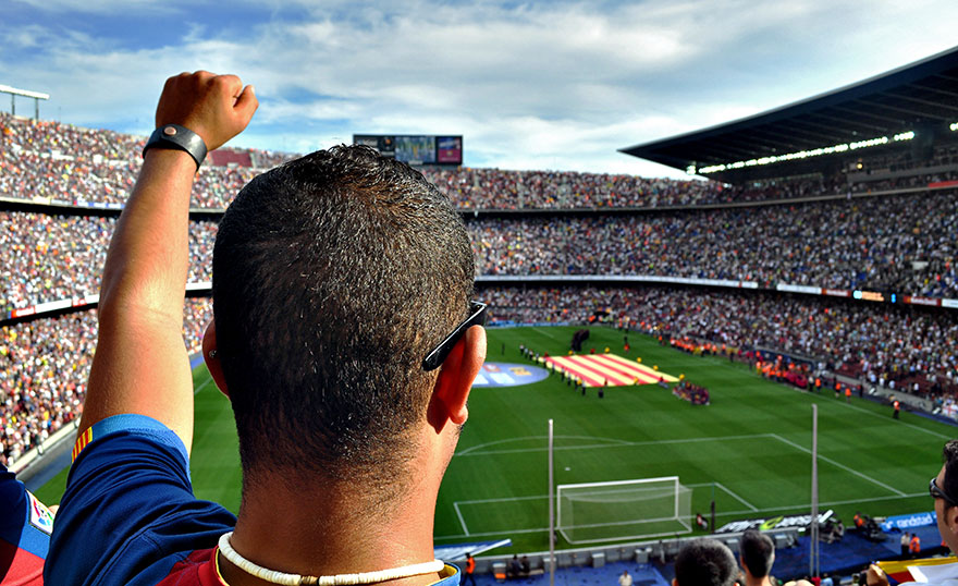 Soccer Match in Barcelona