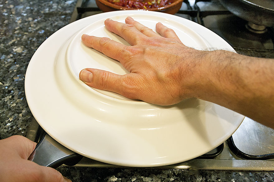 Turning the omelette