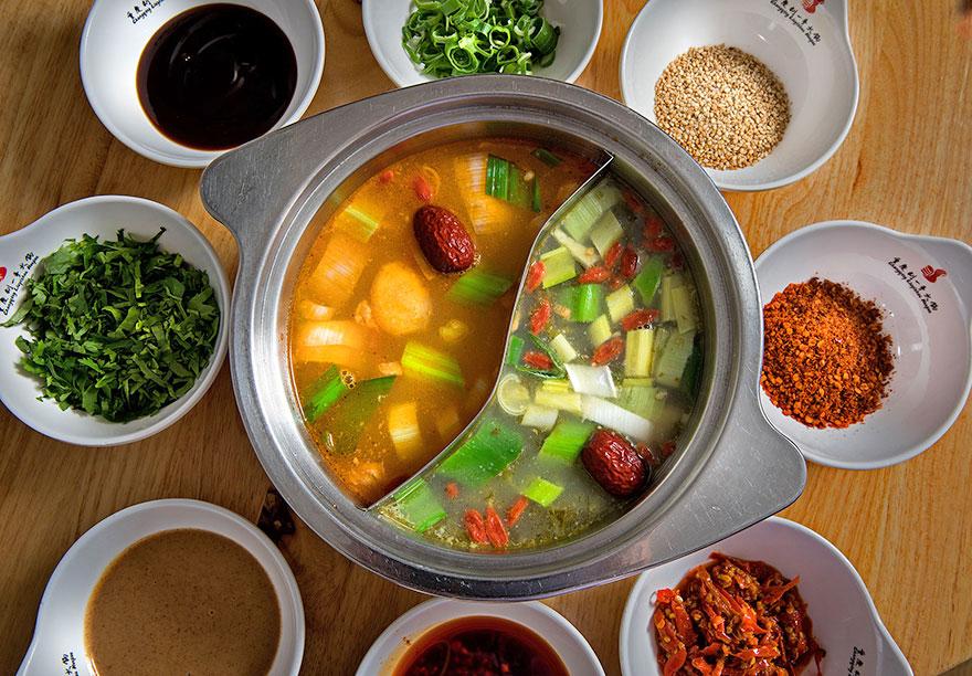 Hot Pot at Liuyishou Asian restaurant in Barcelona.